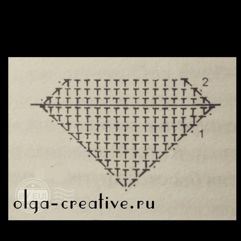как-вязать-треугольник-крючком
