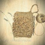 мочалка из джута с вытянутыми петлями