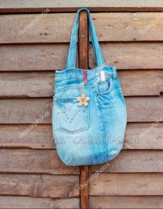 джинсовая-сумка