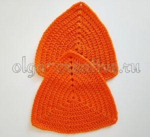 сумка-треугольник-крючком